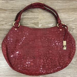 Antonio Melani gold & red leather shoulder purse